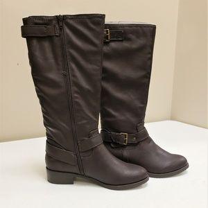 G.H. Bass & Co. Dark Brown Calf High Boots
